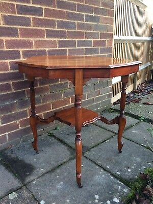 Antique Edwardian Mahogany Occasional Two Tier Table