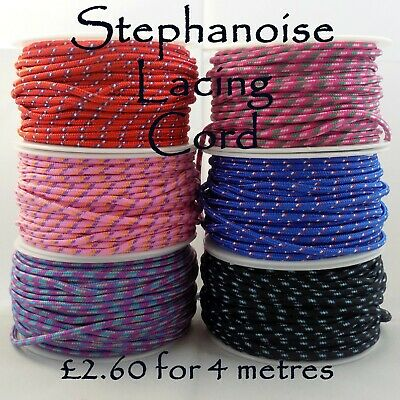 3mm Stephanoise Bright Neon Multi-coloured Lacing Cord for Shoes, Drawstring Bag