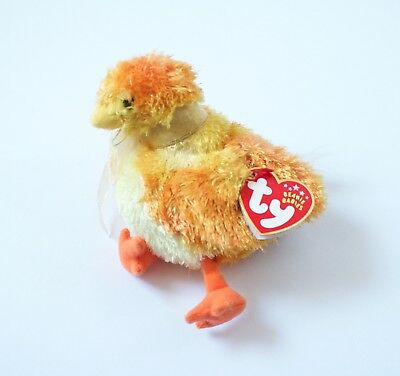 BEANIE BABY CHICKIE the TY Chicken Plush Stuffed Animal 2001 NWT ... 950d2f46064
