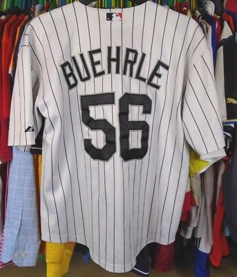 Chicago White Sox Majestic Authentic Mlb Baseball Shirt Jersey Top Xl #56Buehrle