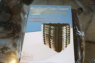 Mini Bead Tube Tower - Tubes not included BeadSmith  BTW4 Bead storage