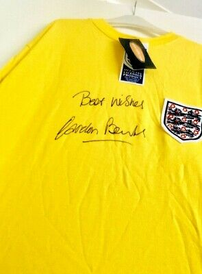 GORDON BANKS Signed Official TOFFS ENGLAND SHIRT AFTAL OnlineCOA