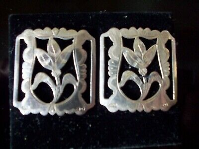 the Pair  1909  Silver  Buckles   35mm x32mm  see details