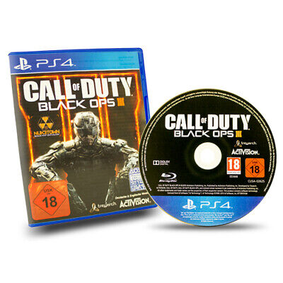 Ps4 Playstation 4 Spiel Call Of Duty Black Ops 3 III Usk 18 in Ovp