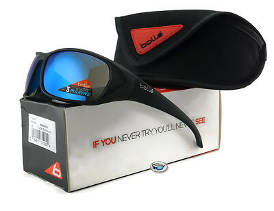 f0382f5bf9 Bolle BLACKTAIL Sunglasses Matte Black with Polarized Offshore Blue Lens  12031