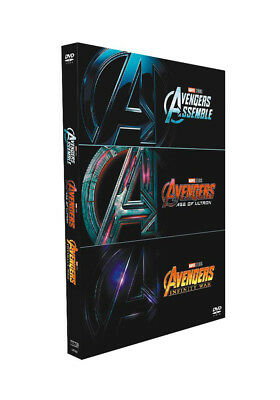 Marvel's The Avengers / Age of Ultron / Infinity War 1-3 DVDBox set Brand New