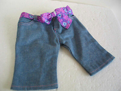 Authentic American Girl Doll Replacement Kanani Denim Cut Offs w floral belt