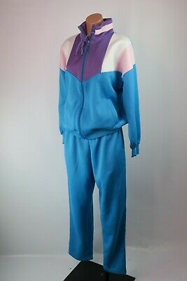 VTG 80s USA OLYMPICS NOS NWOT Sweats Track Suit Jacket Pant RETRO M Colorblock