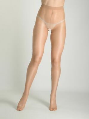Vidrio Crotchless  Glossy Shiny Pantyhose Open Gusset Tights 15 Denier CdR