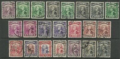 Sarawak - GV 1934 definitives to $1 - VFU