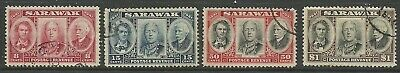 Sarawak - GVI 1946 Centenary Issue set - SG146/9 - VFU - Cat £43
