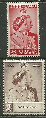Sarawak - GVI Silver Wedding - SG165/6 - UM - Cat £48 (see note)