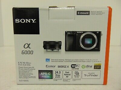 Sony Alpha ILCE6000L/B Mirrorless Digital Camera with 16-50mm Lens 24.3MP