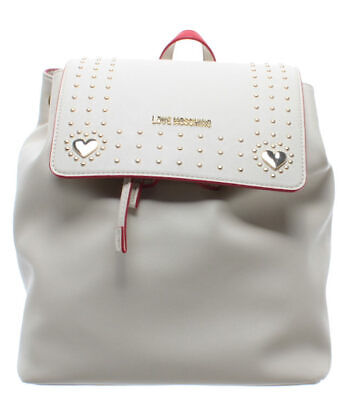 LOVE MOSCHINO Borsa Donna Zaino Smooth PU Avorio Nuova