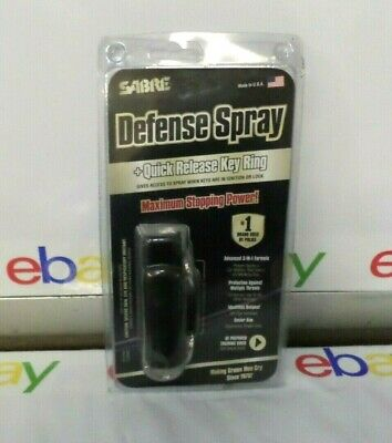 Sabre Pepper Spray Advanced 3-in-1 Police Strength Quick Release Key Chain 06-21