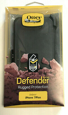 New Original OtterBox Defender With Belt Clip For iPhone 7 Plus Or 8 Plus Black