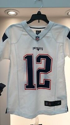 huge discount 1a4e7 b82d6 TOM BRADY NEW England Patriots Nike Youth Jersey White NWT