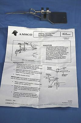 New Amsco Steris Skeletal Traction Unit Orthographic 2 Surgical Table - Warrant