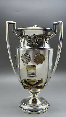 USA AMERICAN LIEUTENANT MAXIME BUTCHER's WW I. 1917 STERLING SILVER CUP / GOBLET