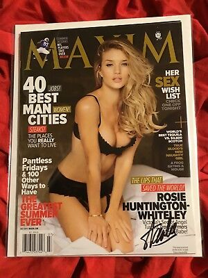 Maxim Magazine April 2011~Stan Lee Interview+Victoria'S Secret~Signed Stan Lee