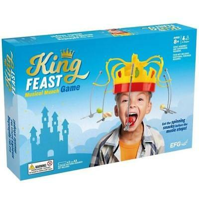 King Crown Feast Musical Munch Game - Eat The Spinning Snacks Before Music Stops