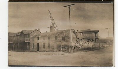 1915 RPPC Postcard of Dilapidated Buildings at Monterey CA