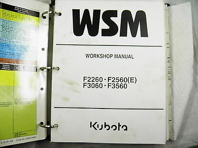 kubota f2260 f2560 f3060 f3560 front mount tractor and mower workshop service manual pdf