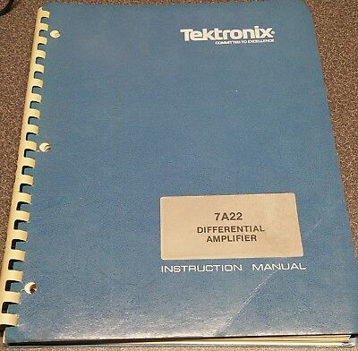 Tektronix 7A22 Differential Amplifier Instruction Manual