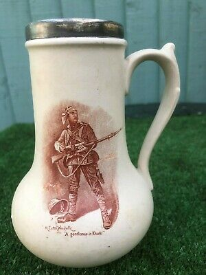 "SUPERB 19thC MACINTYRE, MOORCROFT ""BOER WAR"" COMMEMORATIVE JUG c1899"