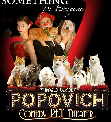 2 Tickets To Popovich's Comedy Pet Theater At The V Theater In Las Vegas