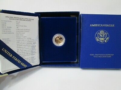 1994 US American Eagle Gold 1/10 Ounce PROOF 5 Dollar Coin