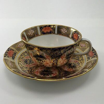 ROYAL CROWN DERBY Old Imari 1128 Tea Cup and Saucer