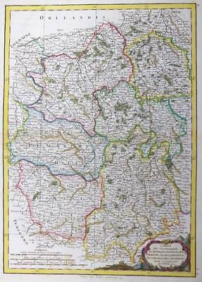 1771 Antique Map FRANCE LIMOSON BERRI NIVERNOIS MARCHE BOURBONNAIS AUVERGNE