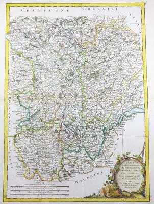 1771 Antique Map FRANCE Regions BOURGOGNE BURGUNDY LYONNAISE FRANCHE-COMTE
