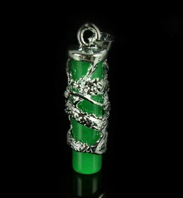 Chinese Exquisite  Malay jade Pendant Green Dragon