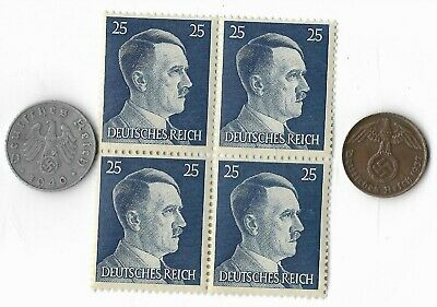 Rare Very Old German WWII Germany Coin Stamp Great Vintage War Collection Lot:us