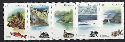 CANADA 1993 'HERITAGE RIVERS'- 3 STRIP OF 5 x 43c STAMPS # 1489a MNH