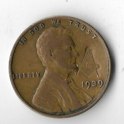 Rare Old USA Free Mason 1939 WWII War Vintage WW2 US Collection Coin Collectible