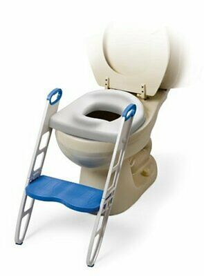 Mommy's Helper Contoured Cushie Step Up Potty Seat, White, Blue, 1-Pack