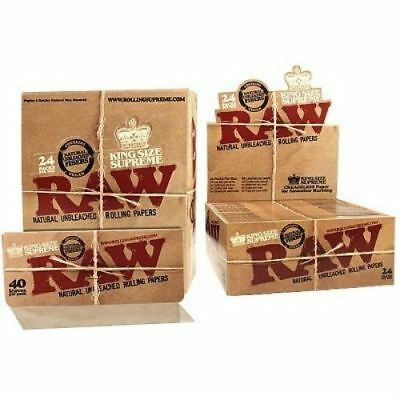Raw Rolling Paper King Size Supreme Classic Full Box of 24 Booklets