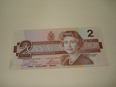 1986 - Canadian two dollar bill - $2 Canada note - AUG8031046