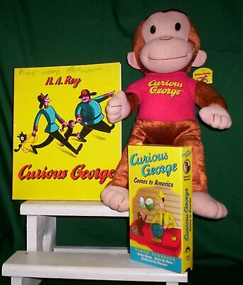 Curious George Plush, Vhs Tape & Book