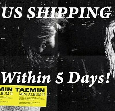US SHIPPING Shinee Taemin-[Want] Mini Album Random Ver. POSTER+Card+Book+etc