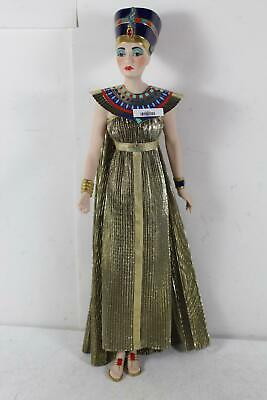 "Egyptian Queen Nefertiti Franklin Mint Heirloom 23"" Porcelain Doll"