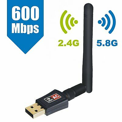 Antenna Wifi PC Chiavetta Wireless 600 MBPS  USB DONGLE PER NOTEBOOK LAPTOP 2dBi