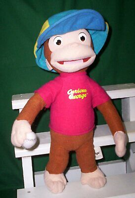 Curious George Baseball Player Plush Character