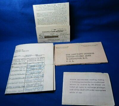 WWII October 1944 Army Medical Pay Record Papers Lot Of 4
