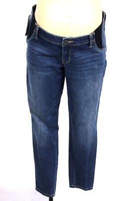71cd171e4eb65 NEW womens medium wash ISABEL MATERNITY jeggings jeans side panel modern L  14