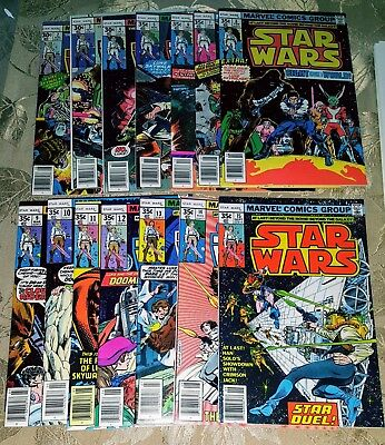 (Lot Of 14)Star Wars #2 - #15 ~ 1977/78 First Prints ~ All Nm- Or Better *bonus