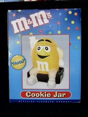 M & Ms Cookie Jar  -  Yellow  -  In Box